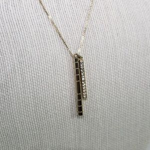 Banana Republic Gold and Crystal Stick Necklace